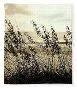 Beach - Sepia Fleece Blanket