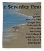 Beach Serenity Prayer Fleece Blanket