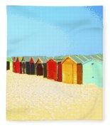 Beach Shacks Down Under Fleece Blanket