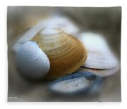 Beach Shells Fleece Blanket