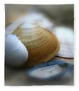 Beach Shells Fleece Blanket
