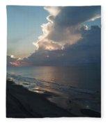 Beach Silver Lining  Fleece Blanket