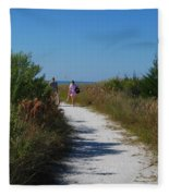 Beach Stroll Fleece Blanket