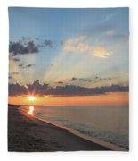 Beach Sunrise Fleece Blanket