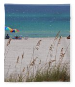 Beach Time At The Gulf - Before The Oil Spill Disaster Fleece Blanket