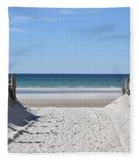 Beach Time Entrance Fleece Blanket