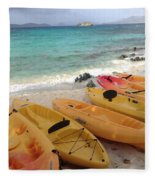 Beach Toys Fleece Blanket