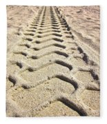 Beach Tracks Fleece Blanket