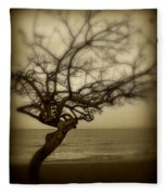 Beach Tree Fleece Blanket