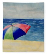 Beach Umbrella Fleece Blanket