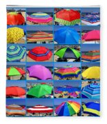 Beach Umbrella Medley Fleece Blanket