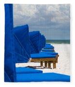 Beach Umbrellas 3 By Darrell Hutto Fleece Blanket