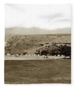 Beach View At Santa Monica Circa 1880 Fleece Blanket
