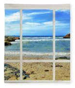 Beach View From Your Living Room Window Fleece Blanket