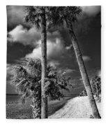Beach Walk - Port Charlotte Beach Park, Florida Fleece Blanket