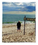 Beach Walking Fleece Blanket