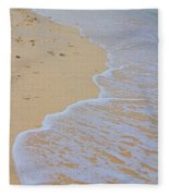 Beach Water Curves Fleece Blanket