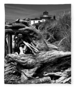Beached Tree Stump Fleece Blanket