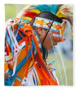 Beaded Pow Wow Dancer Fleece Blanket