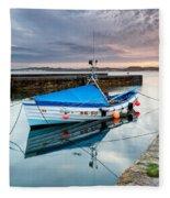 Beadnell Harbour Sunset Fleece Blanket