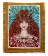 Sarah Goldberg Beauty Queen. Beadwork Fleece Blanket