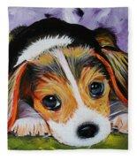 Beagle Pup Fleece Blanket