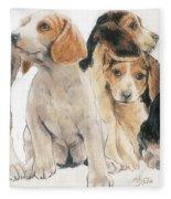 Beagle Puppies Fleece Blanket
