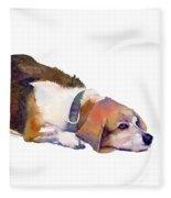 Beagle Thoughts Fleece Blanket