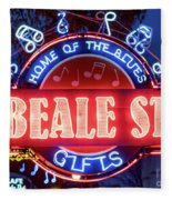 Beale Street Home Of The Blues Fleece Blanket