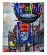 Beale Street Neon Fleece Blanket