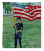 Beaming With American Pride Fleece Blanket