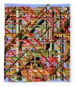 Beams Abstract Art Fleece Blanket