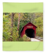 Bean Blossom Bridge II Fleece Blanket