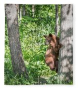 Bear Cub Climb Fleece Blanket