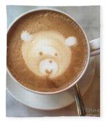 Bear Cup Latte  Fleece Blanket