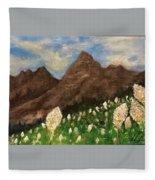 Bear Grass Bloom 2017 Fleece Blanket
