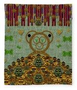 Bear In The Blueberry Wood Fleece Blanket
