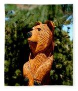 Bear In Woods Fleece Blanket
