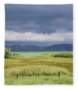 Bear Lake From Us 89 Fleece Blanket