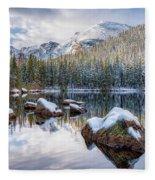 Bear Lake Holiday Fleece Blanket