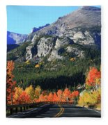 Bear Lake Road In Autumn Fleece Blanket