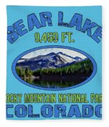 Bear Lake Rocky Mountain National Park Colorado Fleece Blanket