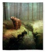 Bear Mountain Fantasy Fleece Blanket