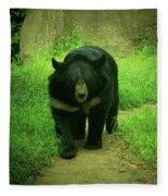 Bear On The Prowl Fleece Blanket