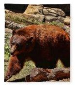 Bear Pacing Fleece Blanket