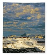 Bear Tooth Mountain Range Fleece Blanket