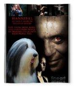 Bearded Collie Art Canvas Print - Hannibal Movie Poster Fleece Blanket