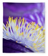 Bearded Iris Macro Fleece Blanket