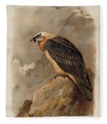 Bearded Vulture By Thorburn Fleece Blanket