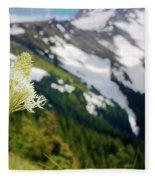 Beargrass Flower On The Slopes Of Mt. Hood Fleece Blanket